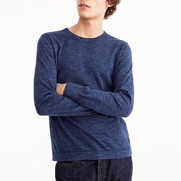 *SOLD* J. Crew Bluish Grey Knit Crew Neck Shirt L